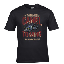 customized Custom Shirts Online Camel Towing Vintage Mechanic Tow Truck Recovery Heavy Load Men'S Casual O-NeckTee Shirts(China)