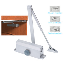 KKMOON Home Office Doors Stainless Steel Automatic Hydraulic Arm 45-65KG Mini Door Closer Mechanical Speed Control