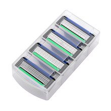 4pcs/lot Razor Blades For Men's Face Care Safety Shaving Razor, AAAAA 5 Layer Blades Cassette Suit For Gillette Fusion Machine.