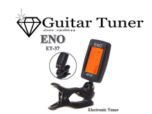 ENO Guitar tuner Mini LCD Clip-on Electronic Guitar Chromatic Bass Violin Ukulel Tuner Wind Instrument Universal Guitar parts