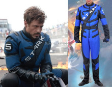 New Arrival Hot Movie Iron Man 2 Tony Stark Cosplay Costume Hero Costume Men's Jumpsuit(China)
