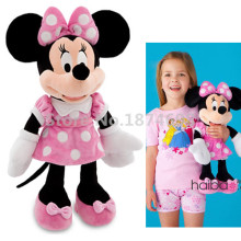 New Minnie Toys 19'' 48cm Minnie Pelucia Pink Plush Stuffed Animals Mickey Girlfriend Kids Toys Children Girls Gifts