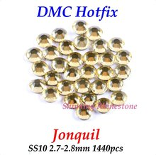 DMC Jonquil SS10 2.7-2.8mm Glass Crystals Hotfix Rhinestone Iron-on Rhinestones Shiny DIY Garment Bag With Glue