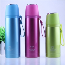 KuangDi vacuum bullet 304 stainless steel vacuum cup portable outdoor water bottle free shipping Chinese famous barand thermoses(China)