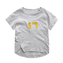 2017 Baby Kids Girls T-shirt Childrens Tops Summer Clothes Short Sleeve Tees