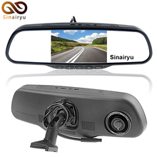 5 Inch Original Bracket Parking Monitor Full 1920x1080P Car Rearview Mirror DVR Monitor Recorder Camera Support LDWS and FCWS