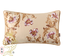 30*50cm Handmade Rome Style Embroidered Floral Thick silk Beige Cushion Cover without interior