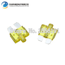 10PCS 20A Medium Size Auto fuse inserts car insurance tablets Medium fuse with lamp car inserts fuse(China)