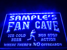 DZ063- Name Personalized Custom Baseball Fan Cave Man Room Bar Beer Neon Sign  hang sign home decor  crafts