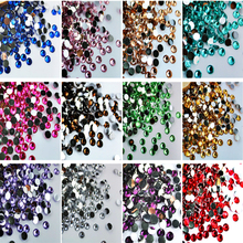22 colors 1000pcs 2mm High quality Acrylic nails rhinestones crystal 3D nail art supplies Phone Beauty DIY Decorative Materials
