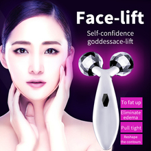 3D Roller Massager Ball V Face Facial Wrinkle Remover Face Lift Tightness Tool Thin Face Body Chin Leg Fast Burning Slimming(China)