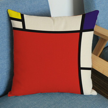 creative euro european throw pillow case geometric cushion cover check plaid grid sofa cojines red home decor
