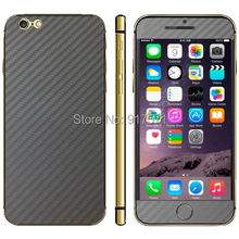 Cell Phone Protective Decorative Stickers Gloss Carbon Fiber Mobile Phone Stickers for iPhone 6 Plus
