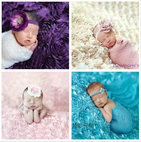 130 x 95cm Photography Props Baby Shooting Newborn Blanket Backgrounds Rose Stage Photography Studio Photography Background<br>