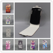 For BlackBerry Q5 Hot Pattern Cute PrintingVertical Flip Cover Open Down/up Back Cover filp leather case