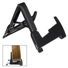 Aroma AGS-02 Foldable Stand A-frame Holder Bracket Mount Bag for Guitar Bass Stringed Instrument Universal Compact Space-saving