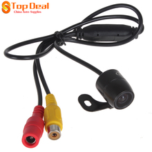Super Deals 420TVL Mini Rear View Night Vision Camera E306 18mm Color CCD Outside Waterpoof For Monitors