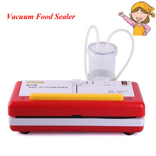 2pcs/lot New Arrival Automatic Vacuum Sealer Machine Food Packaging Machine Vacuum Sealer DZ-2SE