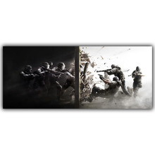 Rainbow Six Siege Posters Video Games Wallpaper, Home Accessories Decorative Painting Silk Printing Process YX135(China)