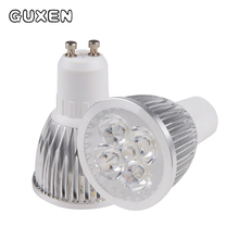 GUXEN GU10 Led Llight bulb Dimmable 3W 4W 5W 6W 8W 9W 10W 12W 110V-240V Led Spotlight led bulb free shipping(China)