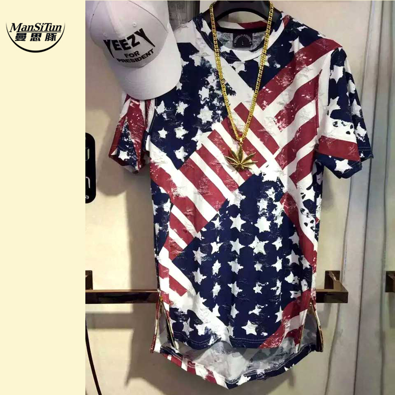 Man si Tun USA American Flag t shirt Men Brand Jersey 2017 New Fashion t -shirt Hip Hop Fitness Short-sleeved Men's Clothing(China (Mainland))