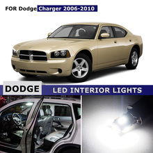 10pcs Car Interior Map Dome Trunk Glove box License Plate Lights Cargo Area Bonus Spare LED Bulbs For Dodge Charger 2006-2010