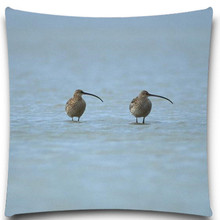 Two birds beak space 2D print creative Pillow case Square cotton polyester cushion cover 5 size 9 style