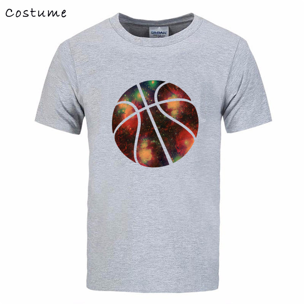 basketball Jerseys galaxy print Tee Shirt Men's Printing Short Sleeve Cotton Couple Guardians male T tshirt real madrIDS bts(China (Mainland))