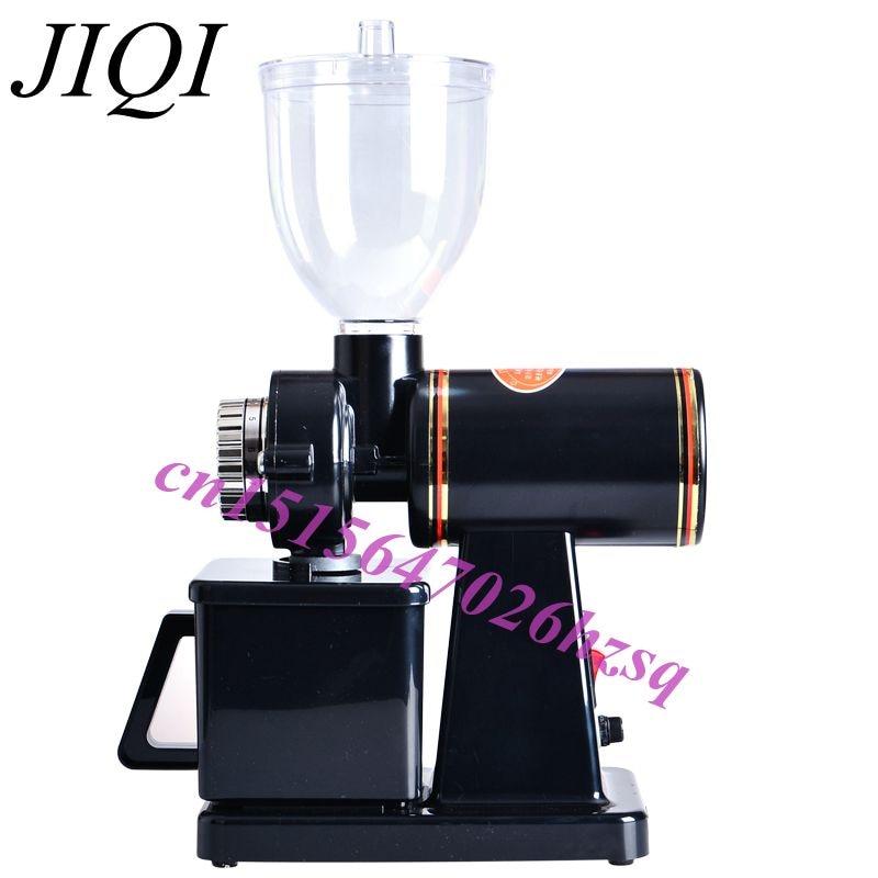 JIQI 110V/220V Automatic electric coffee grinder machine coffee Burr Mill  Storage Capacity (250g)  coffee mill<br>