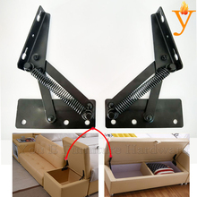 black furniture storage and support hinge with spring D08
