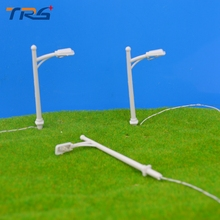50pcs Model Building Kits Street Lamps Model LED Lamppost 1:200 Single-head Street Lamp