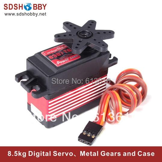 Power HD 8.5kg 0.08s Digital Servo 8307TG W/ 7075 Titanium Gears for 1/10 Racing Car, 500-600 Helicopter Swash Plate Servo<br><br>Aliexpress