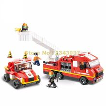 0223 368pcs City Fire Department Emergency Building Block(China)