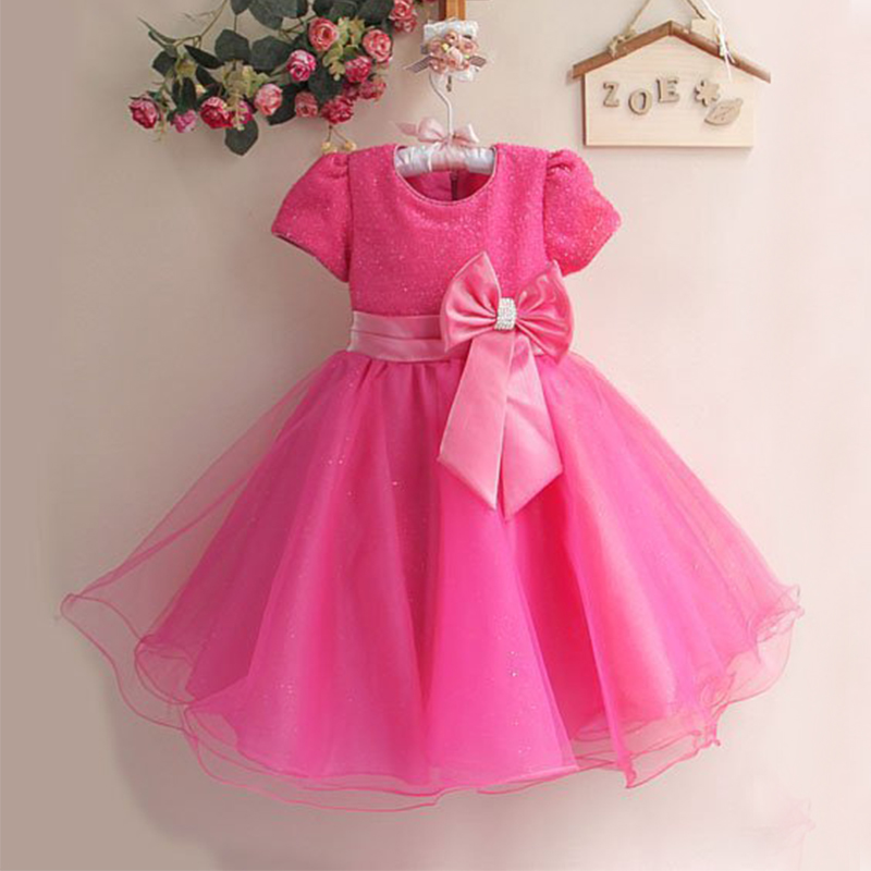 1Pcs Retail NEW 2017 Summer spring Girl Dress Elegant Dress Party Baby Girl Princess Dress Children Clothing Christmas Dress<br><br>Aliexpress
