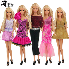 5 piece/lot New Fashion Wear Set Stylish Outfits Casual skirt Clothes for Barbie FR Doll(China)