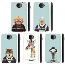 Unique Design Cartoon Animal Head Design Phone Case Skin Cover White Hard Case Cover For HTC ONE X Case