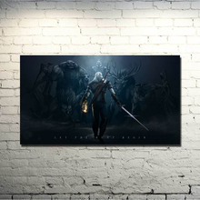 POPIGIST-The witcher 3 Wild Hunt Art Silk Fabric Poster Huge Print 13x24 24x43inch For Home Decoration 82