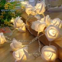 20 LED Christmas light indoor 2.2M Battery Fashion Holiday Lighting Rose Flower led string lights Party Christmas Decoration(China)