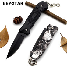Survival Knife Mini Portable Key Edc Stainless Steel Fold Camping Tactical Folding Pocket Ring Outdoor Tools Hunting  2017