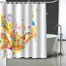 Custom Candy Shower Curtain Modern Fabric Bath Curtains Home Decor More Size Your Image