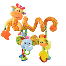 2017 Newborn Baby Toys 0-12 Months Stuffed Stroller Toys Animal Baby Pram Bed Hanging Educational Baby Rattle Toy Rattles 880409