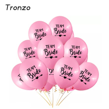 Tronzo 10pcs 12Inch Team Bride Latex Balloon For Wedding Party Decoration Lovely Bachelorette Party Supplies(China)