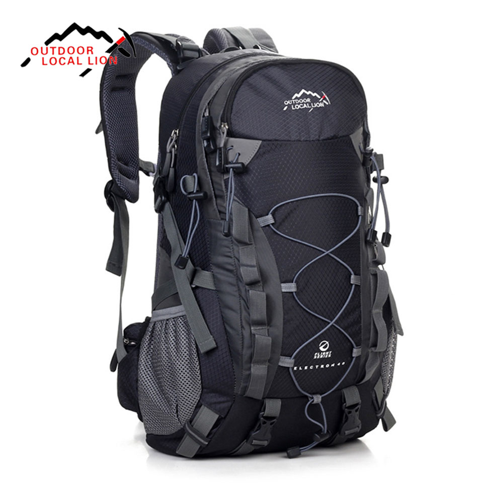 LOCAL LION Outdoor Waterproof Hiking Backpack 40L Breathable Women Men Camping Travel Bag Molle Trekking Climbing Bag Rucksack<br>