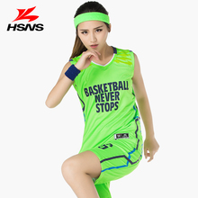 Women's Basketball Jersey Team Uniform Sports Vest Jersey Shirt and Short Pants Suit Breathable Team Training Clothing(China)
