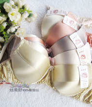 100% Silk bra Underwear Bra Double-sided Silk Band Sponge Care