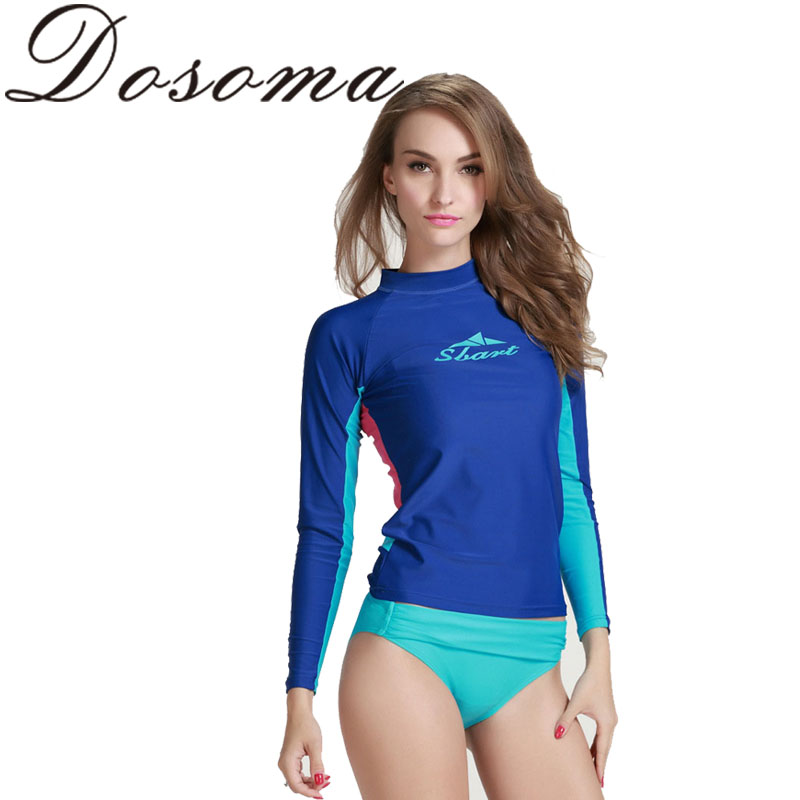 women Water Sports Wetsuit Long Sleeves Scuba Diving Suit Surfing Swimming UV Sun Protection Tight T-Shirts<br><br>Aliexpress