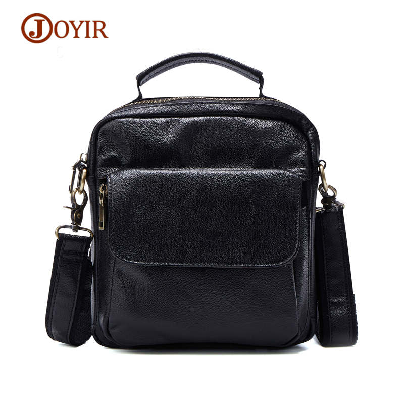 JOYIR Top-Handle Bags Men Genuine Leather Messenger Bag Crossbody Fashion Zipper Tote Top-Handle Bags Flap Functional Handbag<br>