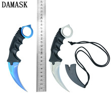 Hot Sales Damask CSGO Counter Strike Collectible Karambit Outdoor Knives Hunting Knives Camping Knife Survival Camping Tools