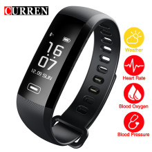 CURREN Watches Smart Wristband Fitness Sport Forecast Blood Pressure Heart Rate Monitor Blood Oxyge Smart Call Reminders Phone