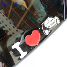 3D Car Sticker Decal Auto Smart Fortwo Forfour Logo Cars Stickers Cute Film Paste Windown Glass Covers Car Styling Decoration